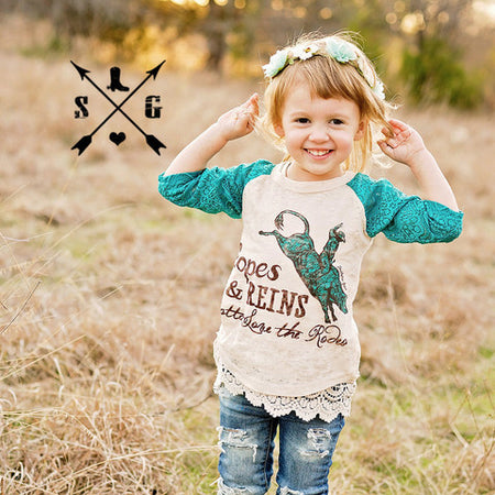 John 3:16 Kids Black and Gray Raglan