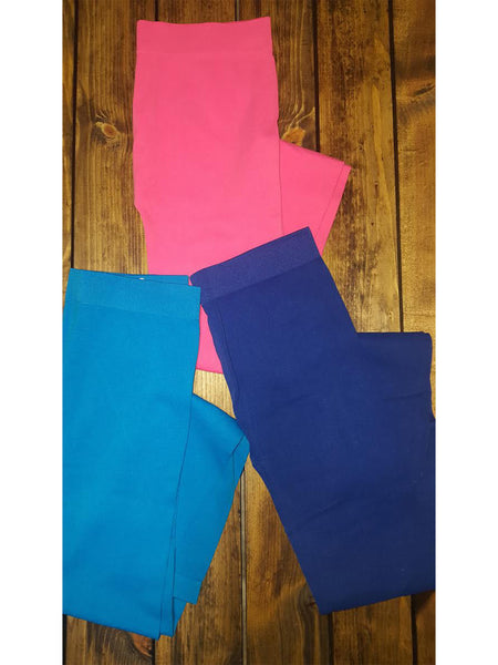 Riley's Favorite Cotton Blend Leggings in Navy S-2XL