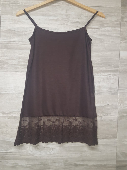 Full Dress Slip in Brown