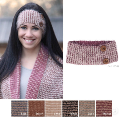 Accessories - Honey Comb Headband With Buttons
