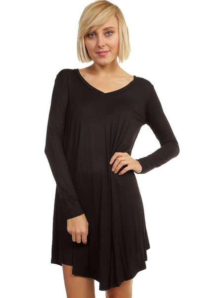 Crazy For This Girl Piko Dress in Black