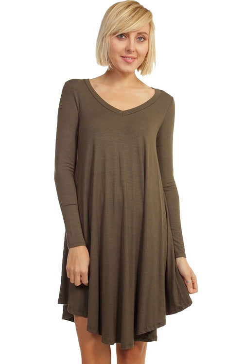 Crazy For This Girl Piko Dress in Olive