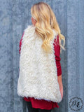 Feeling Furry Vest in Ivory