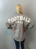 Football Y'all Spirit Jersey in Gray