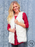 Feeling Furry Vest in Ivory - Southern Grace Outfitters