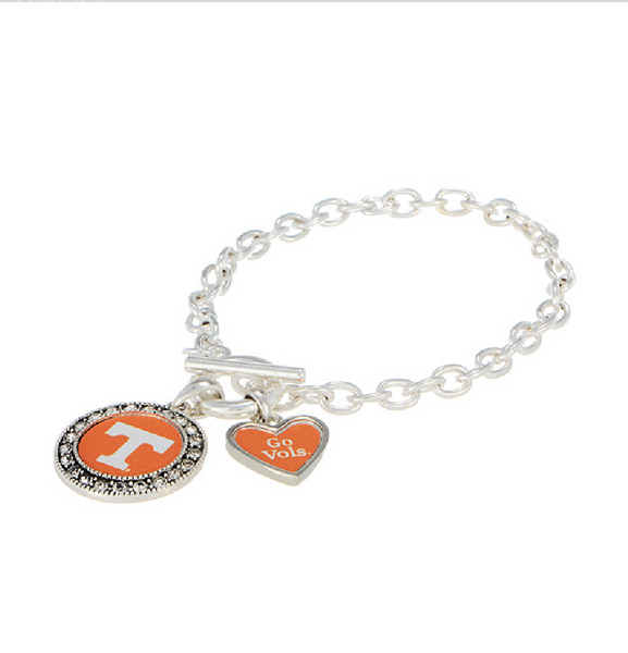 Go Vols Bracelet in Silver - Southern Grace Outfitters