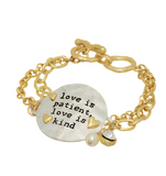 Jewelry - Love Is Patient Love Is Kind In Gold
