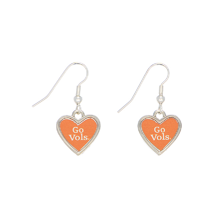 dog circle products heart earrings