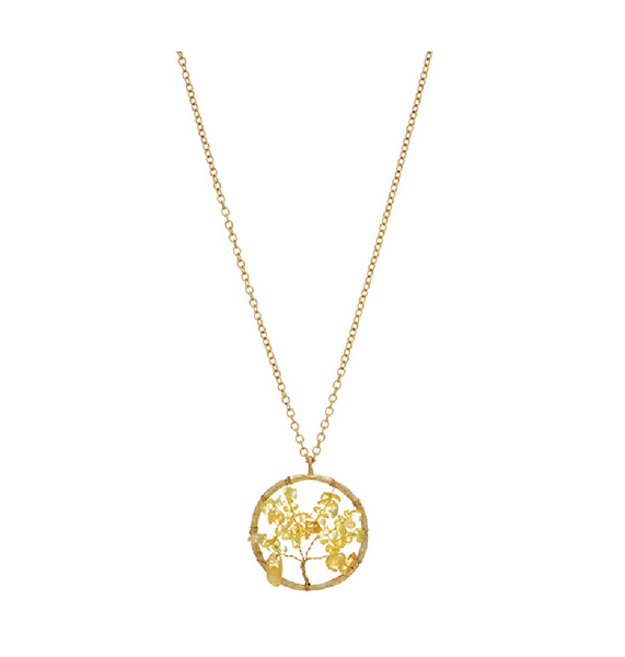 e67a58f1772e5c Worn Gold Necklace W/ Tree Pendant – Southern Grace Outfitters