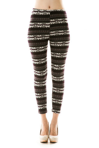 Fair Isle Print Leggings - Southern Grace Outfitters