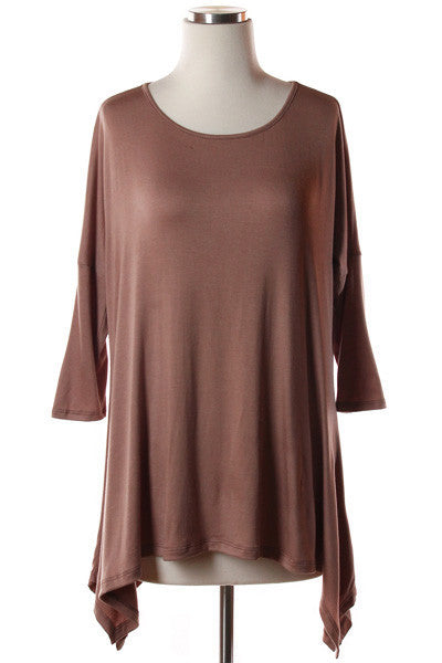 Top - High Low Solid Top (MORE COLORS)