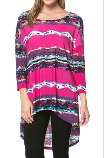 Tops - Pink Striped Tunic