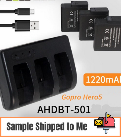 GoPro hero5 6 7 sports camera battery