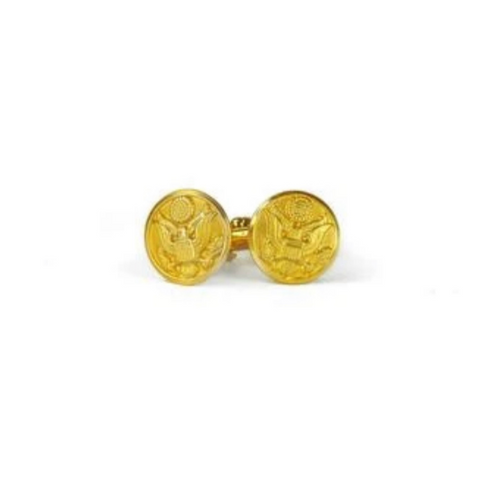 Sword and Plough Brass Cuff Links