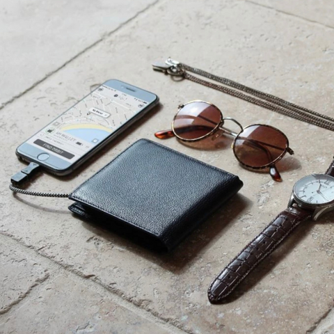 Orbit wallet charges phone