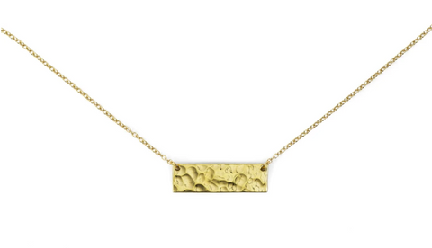 Sword and Plough Brass Bar Necklace