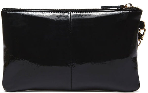 Mighty Purse - Glossy Black Patent Leather Clutch Purse
