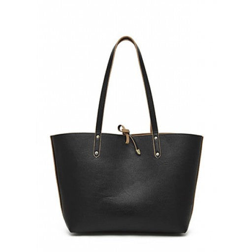Mighty Purse - Black & Tan Reversible Tote