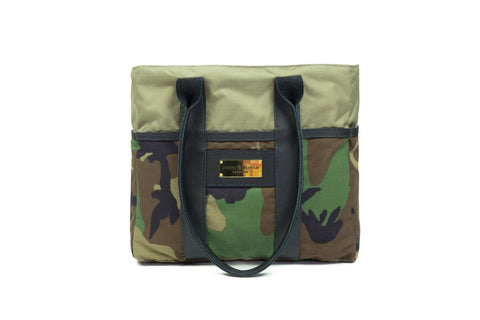 Sword & Plough Camo Mini Zip Top Tote Bag