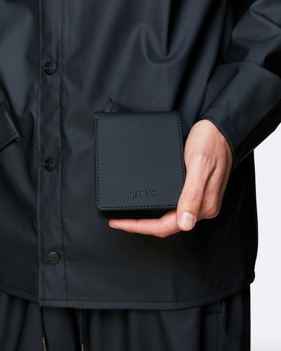 Waterproof Black Folded Wallet