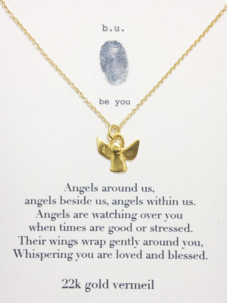 b.u. jewelry | Guardian Angel Necklace