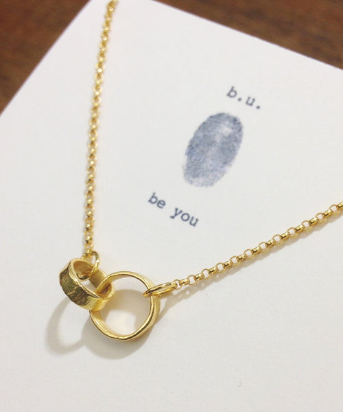 b.u. jewelry | Connected Rings Necklace