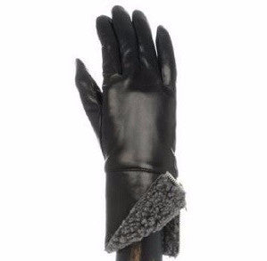 Carolina Amato | Leather with Shearling Cuff Gloves