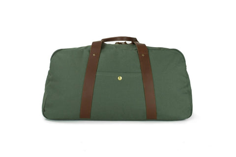 Sword & Plough Green Duffle Bag with Strap