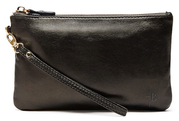 Mighty Purse - Black Shimmer Original Leather