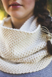 Two Color Seedstitch Eternity Scarf
