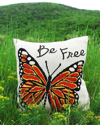 """Be Free"" Butterfly Pillow"