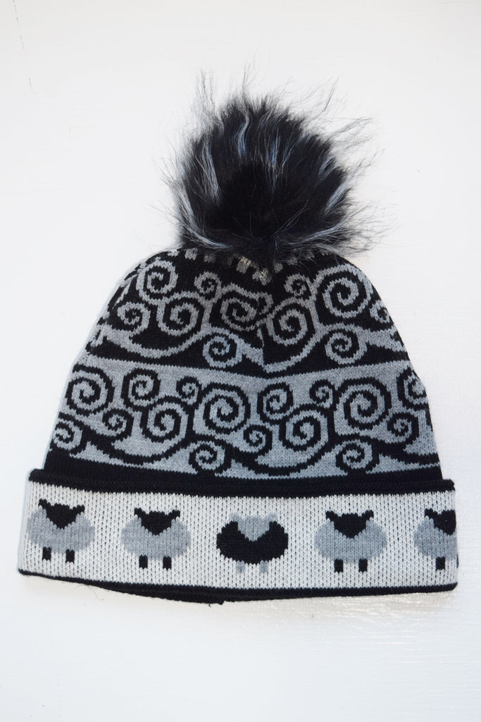 Black Sheep Hat with & Without Pom