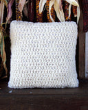 Hand Crochet Slub Pillow with Faux Fur Back