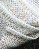 Two Color Seedstitch Throw - Natural/Linen