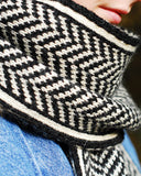 Chevron Pattern Scarf - Detail