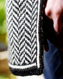 Chevron Pattern Scarf - Edge Detail