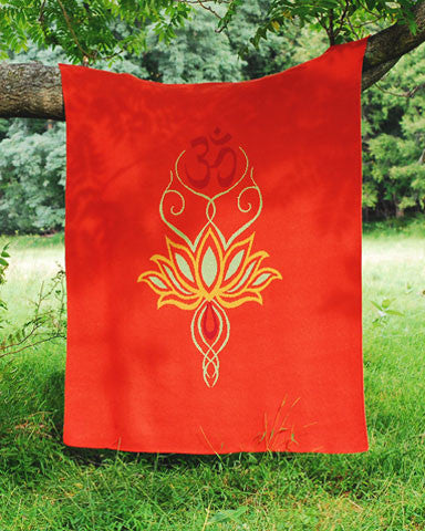 Lotus Flower & Om Throw