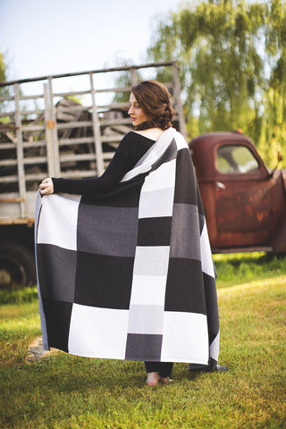 Shades of Grey Throw
