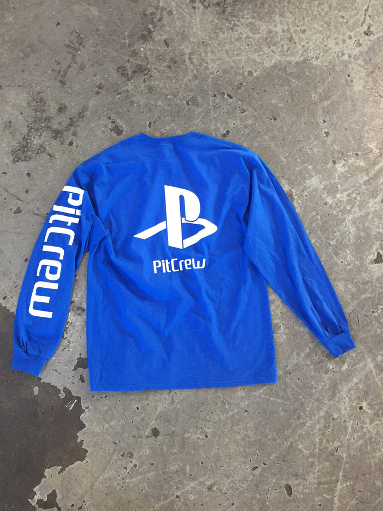 Pitcrew PS Long Sleeve T-Shirt Royal Blue