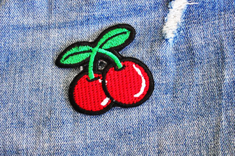 Cherries Iron on patch