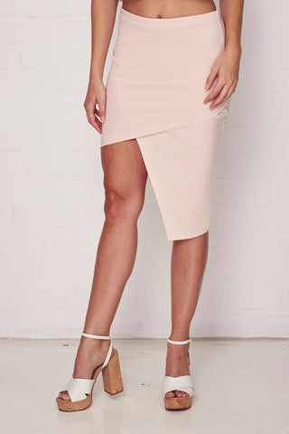 Pink Asymmetric Skirt