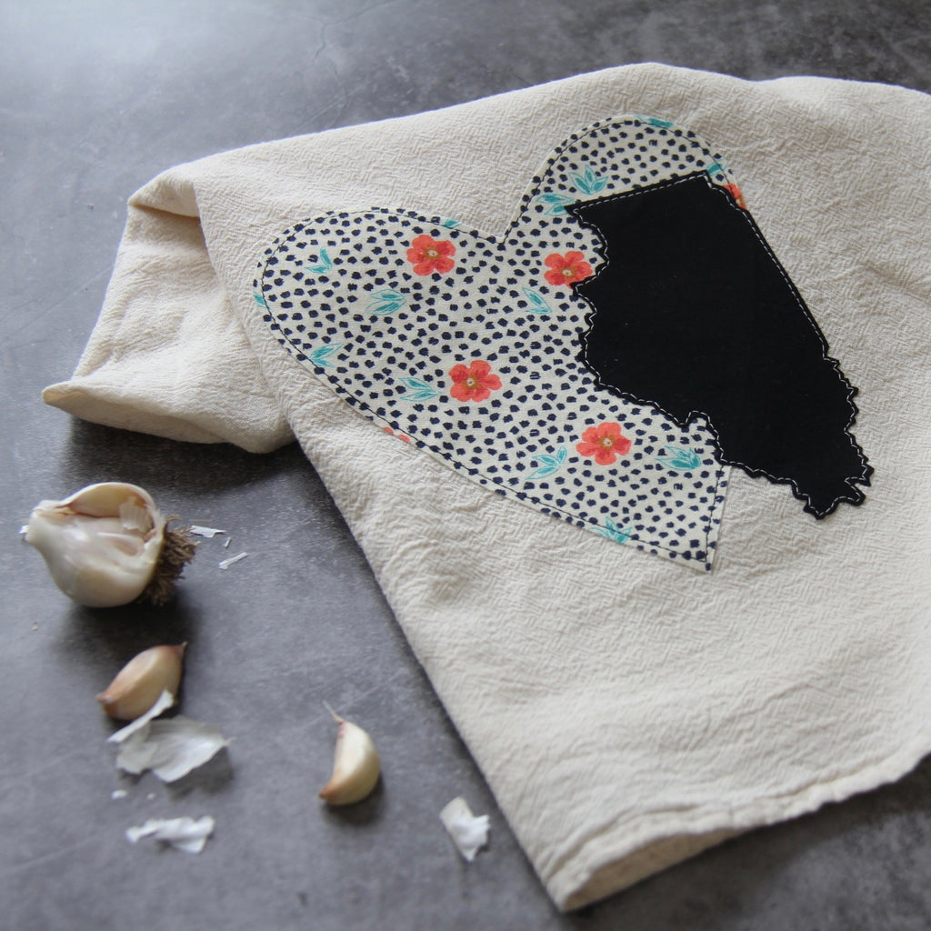 GEO flour sack tea towel