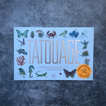 temp tattoos + art prints: 108 wild creatures