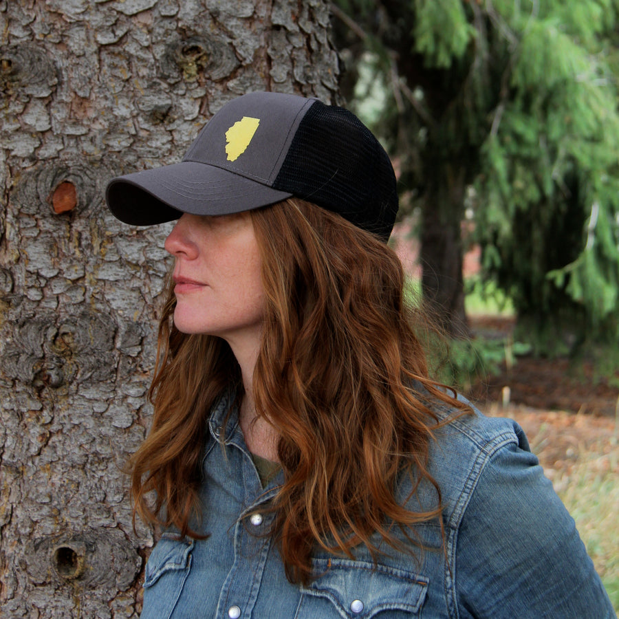 geo charcoal grey  trucker / organic cotton