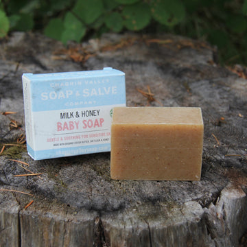 unscented natural milk and honey baby soap
