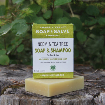 neem and tea tree shampoo bar