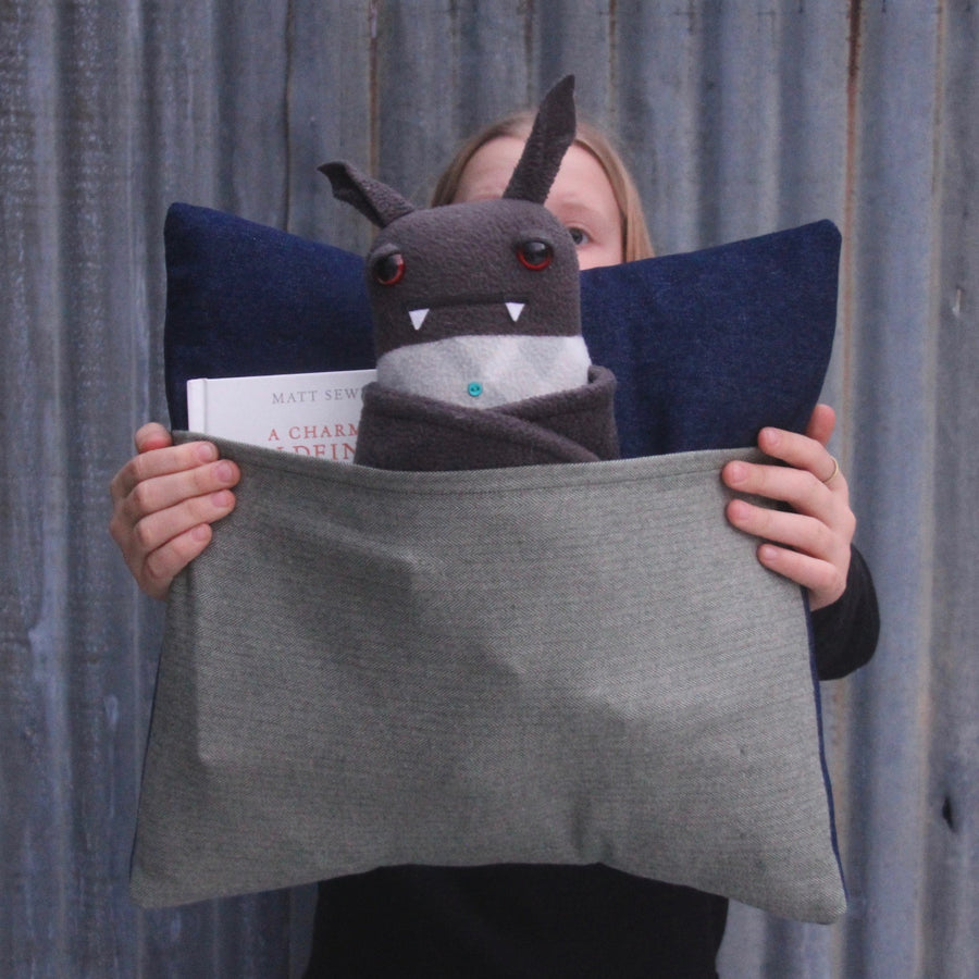 kangaroo pillow sage flannel