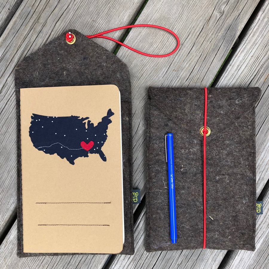 customized geo adventure journal and travel case