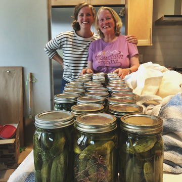 Canning Pickles: Digital LIVE Canning Workshop with my mom / September 13, 2020