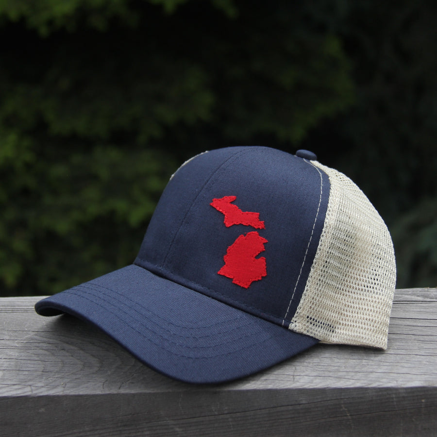 geo pacific blue trucker organic cotton Michigan
